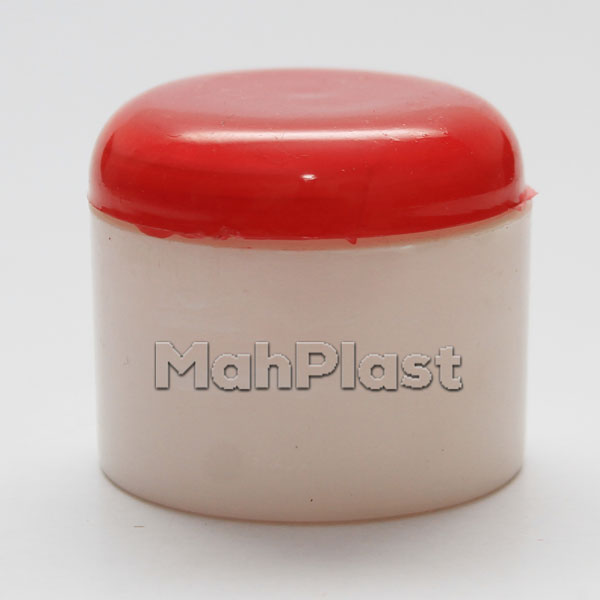 قوطی کرم پلاستیکی 100 گرمی درب قرمز
